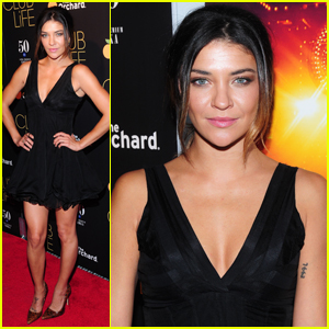 Jessica Szohr Brightens Up the Red Carpet at New York 'Club Life' Premiere!