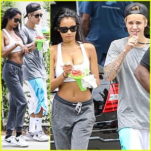 Justin Bieber & Model Jayde Pierce Spend Their Sunday Together