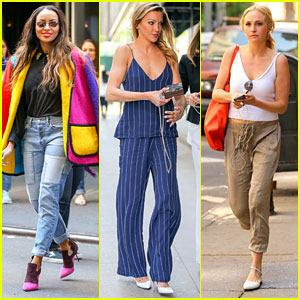 Candice Accola, Katie Cassidy & Kat Graham Enjoy Sunny Day in NYC After CW Upfronts