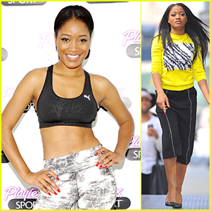 Keke Palmer Encourages Girls to Stay Active During Fitness Class