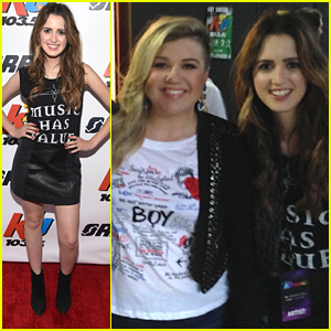 Laura Marano Meets Kelly Clarkson At KTUphoria 2015 - See The Pics!
