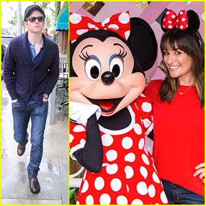 Lea Michele Has Tea Party With Minnie Mouse at Disneyland