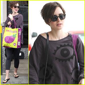 Lily Collins Picks Up Groceries After Katherine McNamara 'Shadowhunters' Casting News