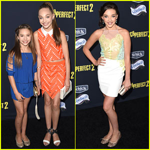 Maddie Ziegler & Kendall Vertes Dance Their Way To 'Pitch Perfect 2' Premiere