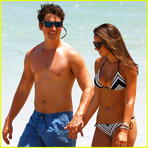 Miles Teller Gets In Another Beach Day with Girlfriend Keleigh Sperry!