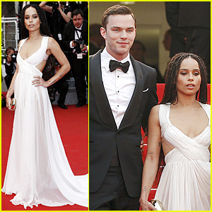 Nicholas Hoult & Zoe Kravitz Premiere 'Mad Max: Fury Road' at Cannes