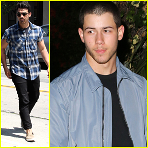Nick Jonas Dines Out At Chateau Marmont Ahead of iHeartRadio Summer Pool Party