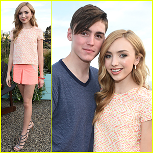 Peyton List Brings Brother Spencer To Yam Celebration