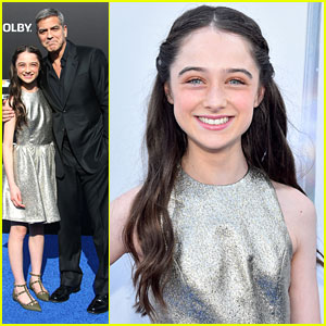 Raffey Cassidy Joins George Clooney At 'Tomorrowland' Disneyland Premiere