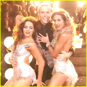 Riker Lynch Jazzes It Up With Allison Holker & Brittany Cherry For 'DWTS' Trio Dance - Watch Now!