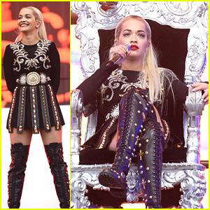 Rita Ora Takes Her Throne At Radio 1's Big Weekend