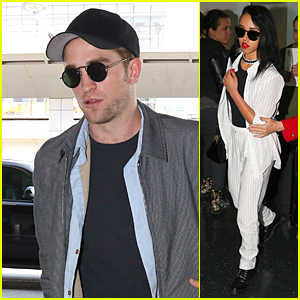 Robert Pattinson & FKA twigs Catch Flight Out of NYC After Met Gala