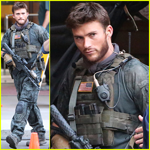 Scott Eastwood Seen on 'Suicide Squad' Set in Full Army Costume!
