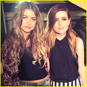 Sofia Reyes Meets Up With Echosmith's Sydney Sierota In Spain (Exclusive)