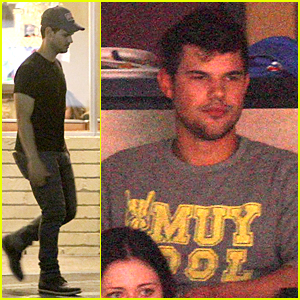 Taylor Lautner Stops For Fans at Norms