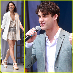 Vanessa Hudgens & Darren Criss Perform Together At Stars In The Alley Concert