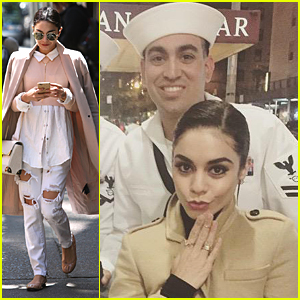 Vanessa Hudgens Celebrates Fleet Week in New York City