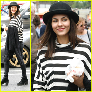 Victoria Justice Found A Huge Strawberry At the Farmer's Market