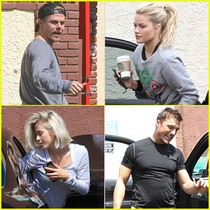 Witney Carson, Derek & Julianne Hough Hit Dance Studio For 'DWTS' Finals Practice