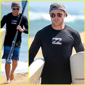 Zac Efron Is Wetsuit Ready for His Hawaii Beach Day