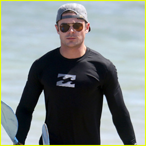 Zac Efron Hits the Beach in Hawaii!