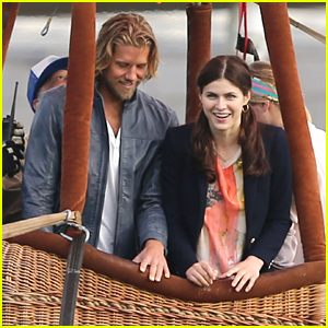 Alexandra Daddario Tries That Hot Air Balloon Ride Again On 'The Layover' Set