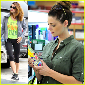 Ashley Greene 'Lets Her Body' Do The Talking While Hitting the Gym