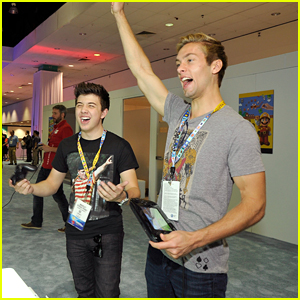 Austin North & Bradley Steven Perry Get Their Game On With Nintedo At E3