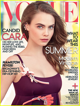 Cara Delevingne Covers July Issue of 'Vogue': 'Modeling Is The Opposite Of Real'