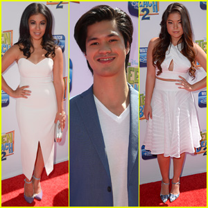 Chrissie Fit & Piper Curda Are White Hot at Teen Beach 2' With Ross Butler & Jordan Fisher