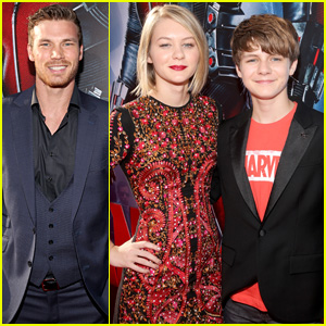 Derek Theler & Ty Simpkins Hit Up the 'Ant-Man' Premiere in L.A.