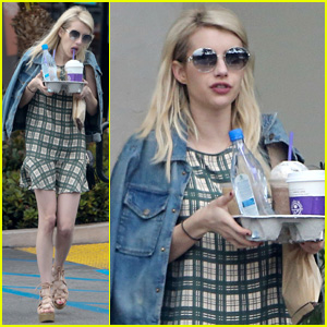Emma Roberts Grabs Coffee After Splitting From Fiance Evan Peters