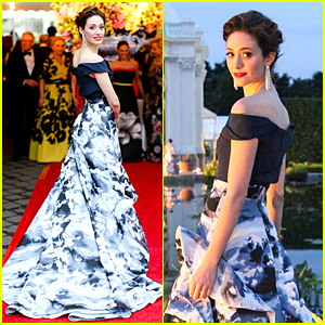 Emmy Rossum Makes Carolina Herrera Proud at New York Botanical Garden Ball
