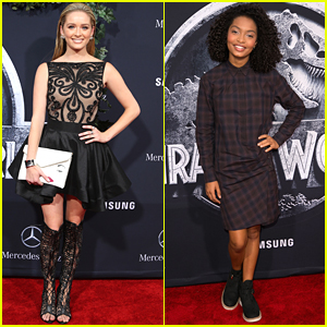 Greer Grammer Goes Backless For 'Jurassic World' Premiere in Hollywood