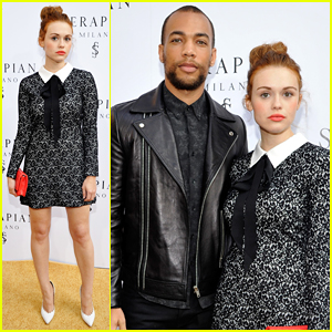 Holland Roden & Kendrick Sampson Buddy Up at Serapian Milano's First Store Opening!