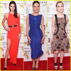 Kendall Jenner & Kiernan Shipka Get Dolled Up for Fragrance Foundation Awards 2015