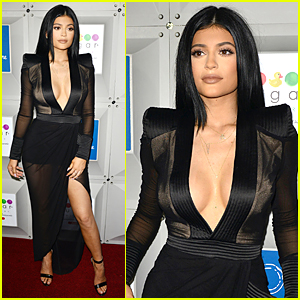Kylie Jenner's Cleavage Baring Dress Held Together By Duct Tape