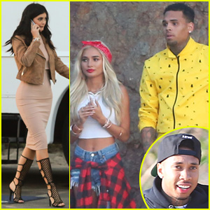 Kylie Jenner Stops By Pia Mia's Music Video Set With Boyfriend Tyga