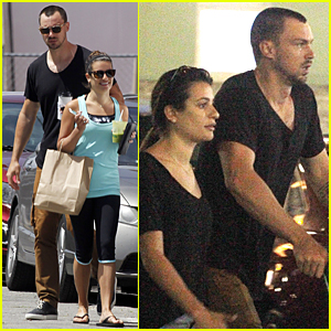 Lea Michele & Matthew Paetz Grab Groceries Before Shooting 'Scream Queens'