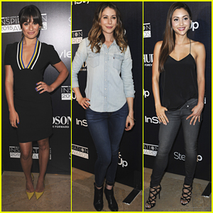 Lea Michele & Lindsey Morgan Step Out For Inspiration Awards 2015