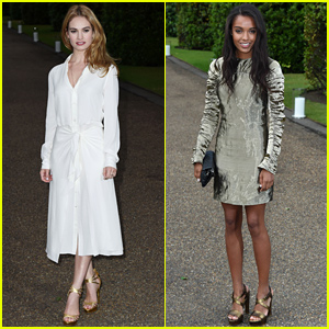 Lily James Gets Ready for Wimbledon at the 'Vogue' Party!
