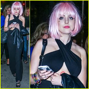 Elizabeth Gillies Rocks a Pink Wig at Gay Pride 2015 in NYC