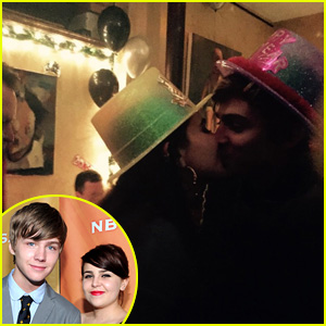 On-Screen Siblings Mae Whitman & Miles Heizer Smooch for National Kissing Day!