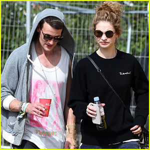 Matt Smith & Lily James Couple Up for Glastonbury Festival 2015