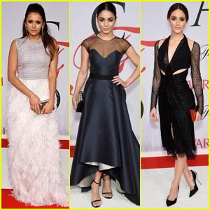 Nina Dobrev & Vanessa Hudgens Bring Fashion A-Game to CFDA 2015 With Emmy Rossum