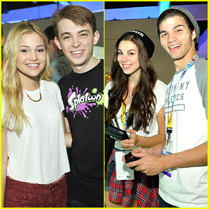 Olivia Holt & Kira Kosarin Test Out Their Video Game Skills At Nintendo's E3 Booth