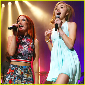 Peyton List Performs With Ingrid Michaelson At The Greek!
