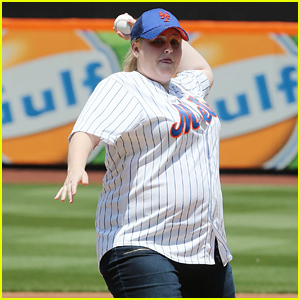Rebel Wilson Throws Out 'Pitch Perfect' First Pitch - Watch Now!