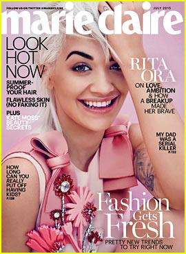Rita Ora Discusses Calvin Harris Split with 'Marie Claire'