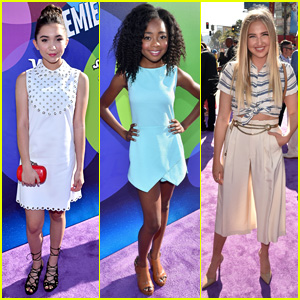 Rowan Blanchard & Veronica Dunne Rep Disney Channel at 'Inside Out' Premiere